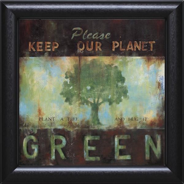 Wani Pasion-Green Planet 31 x 31 Framed Art Print