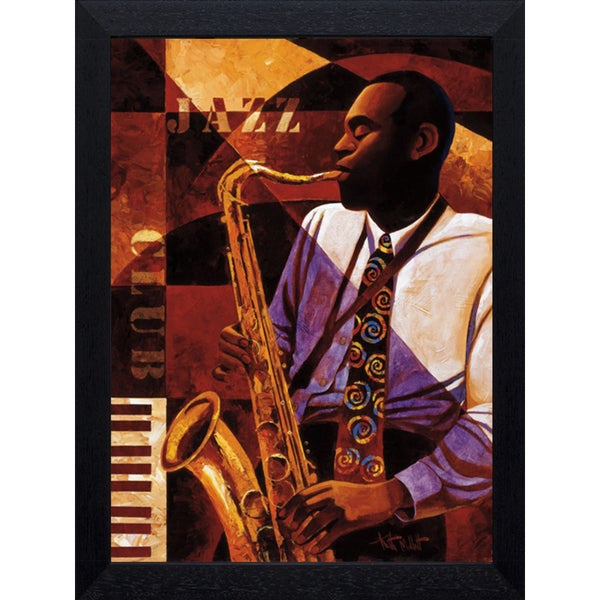 Keith Mallett -Jazz Club 22 x 28 Framed Art Print