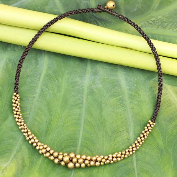 Handcrafted Brass 'Ethnic Cosmos' Necklace (Thailand)