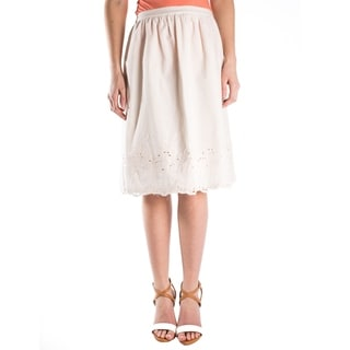 DownEast Basics Women's Embroided Lace Skirt