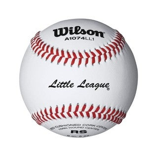 Wilson Little League Raised Seam Baseball, 12 Pack