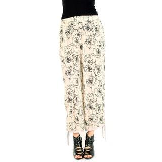 Women's Beige Loose-fitting Long Dress Pants