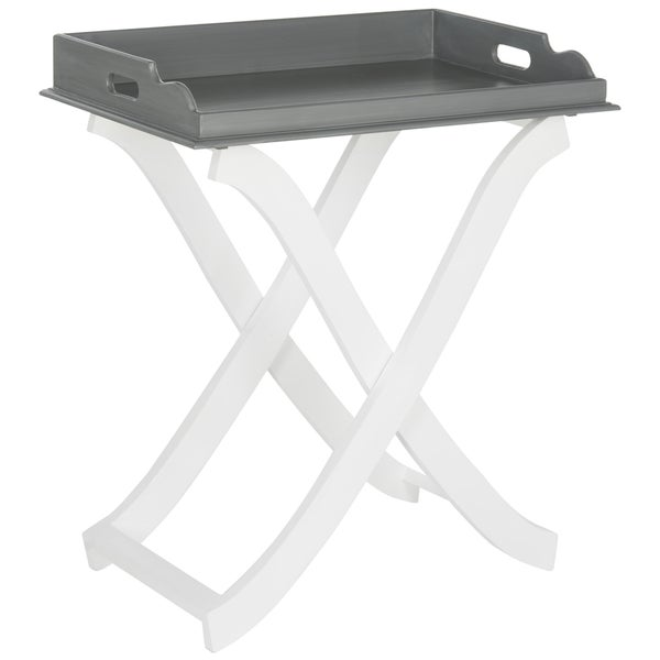 Safavieh Barkley Grey/ White Tray Table