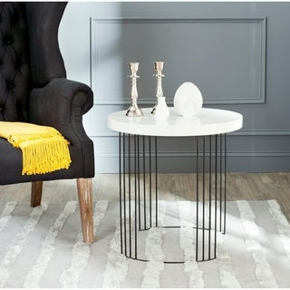 Safavieh Kelly White Lacquer Side Table