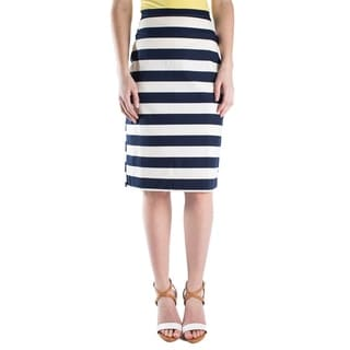 DownEast Basics Women's Stripe Attack Skirt