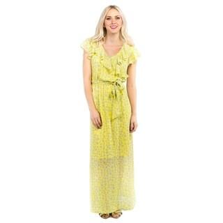 DownEast Basics Women's Tulip Print Soft Dreams Maxi Dress