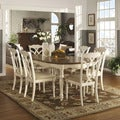 TRIBECCA HOME Shayne Country Antique Two-tone White Extending Dining Set