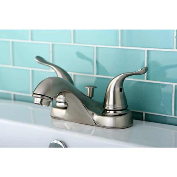 Satin Nickel Double-lever Handle Bathroom Faucet