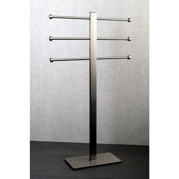 Satin Nickel Freestanding Stainless Steel Towel Holder