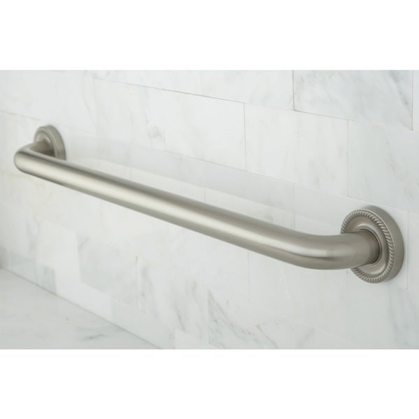 Satin Nickel 30-inch Beaded Grab Bar