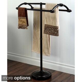 Vintage Solid Brass Pedestal Towel Stand