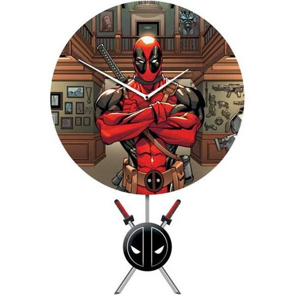 Marvel Deadpool Wall Clock with 3D Pendulum