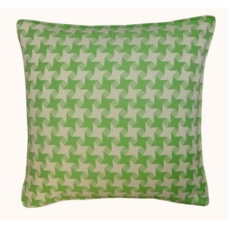 Jiti Outdoor Houndstooth Green 20-inch Square Pillow
