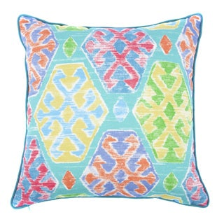 Jiti Outdoor Crayon Teal 20-inch Square Pillow