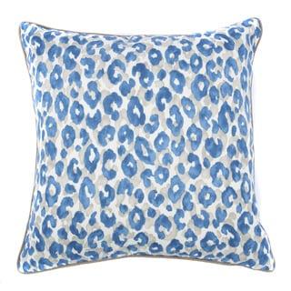 Jiti Outdoor Cheetah Blue 20-inch Square PIllow