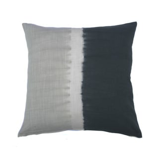 Jiti Tie-dye Halves Grey Charcoal 20-inch Square Pillow