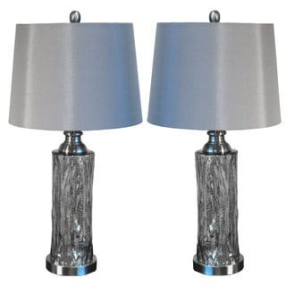 Casa Cortes Procida 27-inch Mercury Glass Table Lamp (Set of 2)