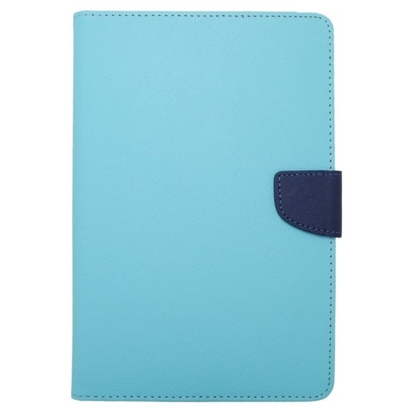 Insten Folio Flip Snap-on Leather Fabric Tablet Case Cover For 7-inch Samsung Galaxy Tab/ 2/ 3/ 4