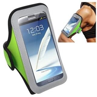 Insten Green Universal Sport Armband For Apple iPhone 6/ 6+/ Samsung Galaxy Note 3/ 4/ Edge/ Mega 2/ ZTE Zmax/ Grand X Max