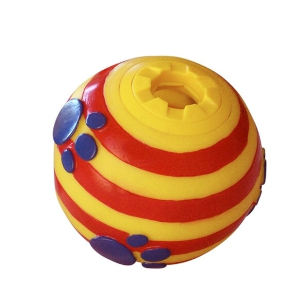 Insten Yellow Sphere Pets Dog Plastic Treat Dispenser