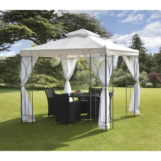Polenza 98-inch Netted Cream Gazebo