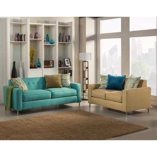 Furniture of America Ginnifer Modern 2-Piece Loveseat and Sofa Set