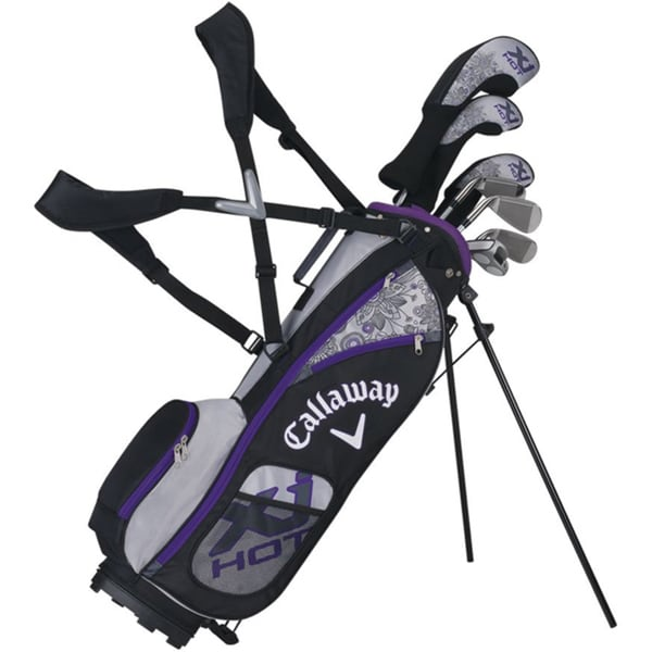 Callaway Girls XJ Hot Full Set Ages 9-12 7 clubs with a bag