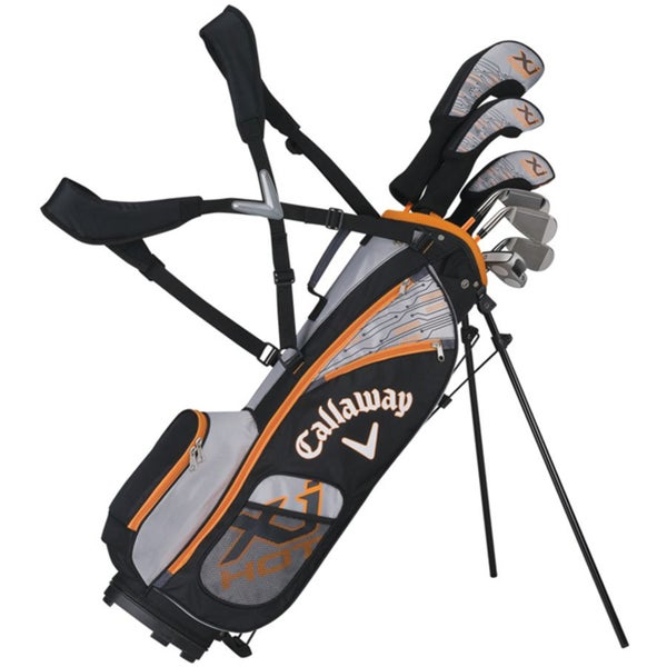 Callaway Boys XJ Hot Full Set Ages 5-8 7 clubs with a bag