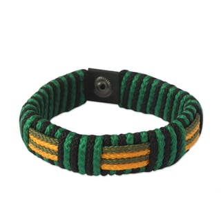 Men's Polyester Recycled Paper 'Essence of Africa' Bracelet (Ghana)