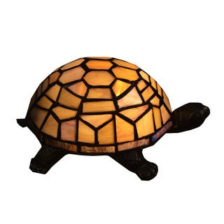 Turtle Tiffany-style 1-light Amber Accent Lamp