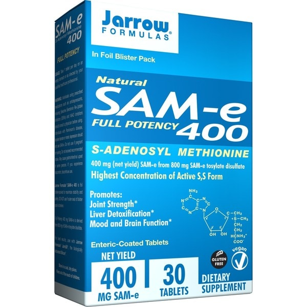 Jarrow Formulas SAM-e 400, 400 MG (30 Tablets)