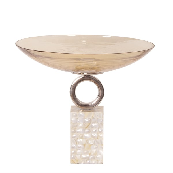Luster Short Glass Bowl