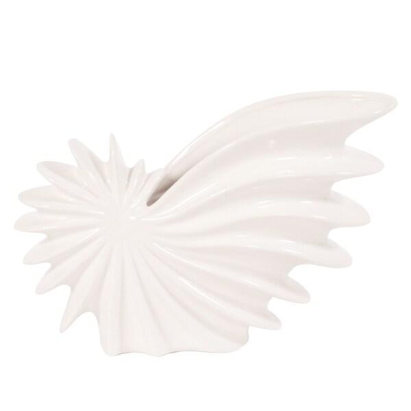 Glossy White Small Shell Vase