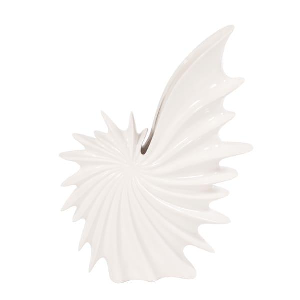 Glossy White Large Shell Vase