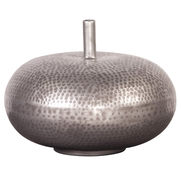 Hammered Pewter Wide Vase