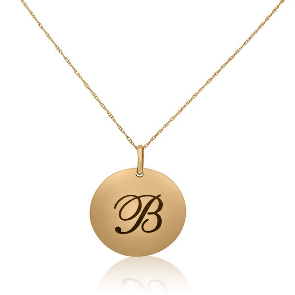 14KT Yellow Gold B. Initial Pendant Necklace