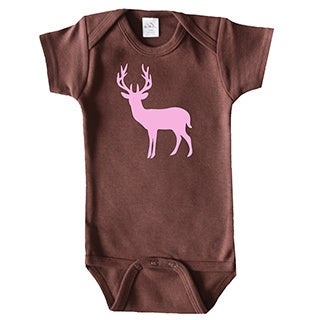 Rocket Bug Girls Deer Silhouette Bodysuit