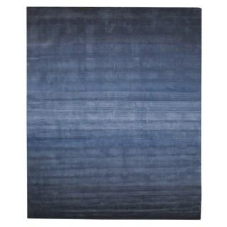 EORC Hand-tufted Blue Wool Blue Horizon Rug (8'9 x 11'9)