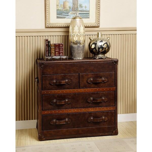 Lazzaro General Four-drawer Steamer Chest 15065949