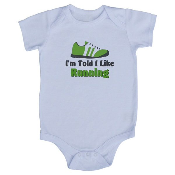 Rocket Bug 'I'm Told I Like Running' Baby Bodysuit