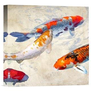 Teo Rizzardi 'Koi 2' Stretched Canvas Artwork