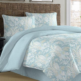 Tommy Bahama Tiki Bay Silver Blue Cotton 4-piece Comforter Set