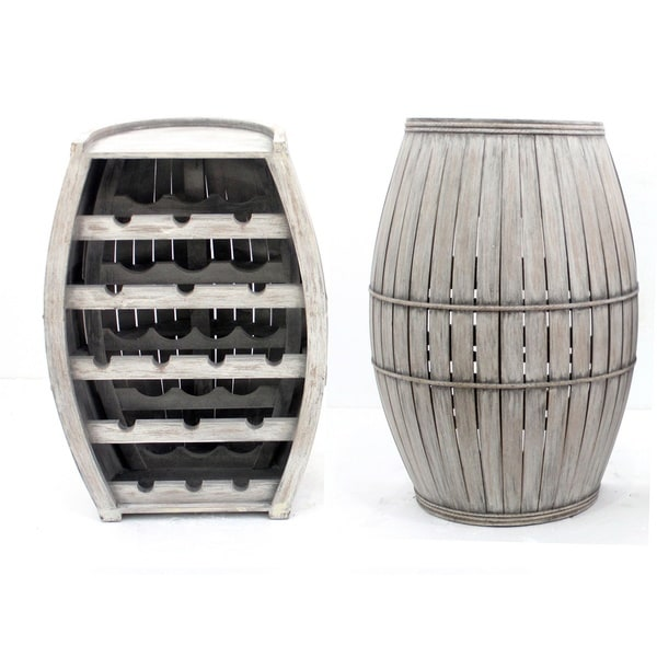 Charcoal Barrel Wine Rack