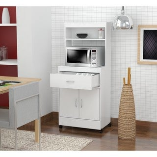 Inval Microwave Cart with Storage