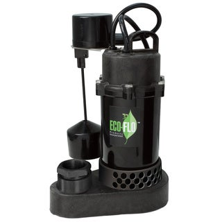 Eco-Flo SPP33V Thermoplastic Sump Pump with Vertical Angle Switch-1/3HP