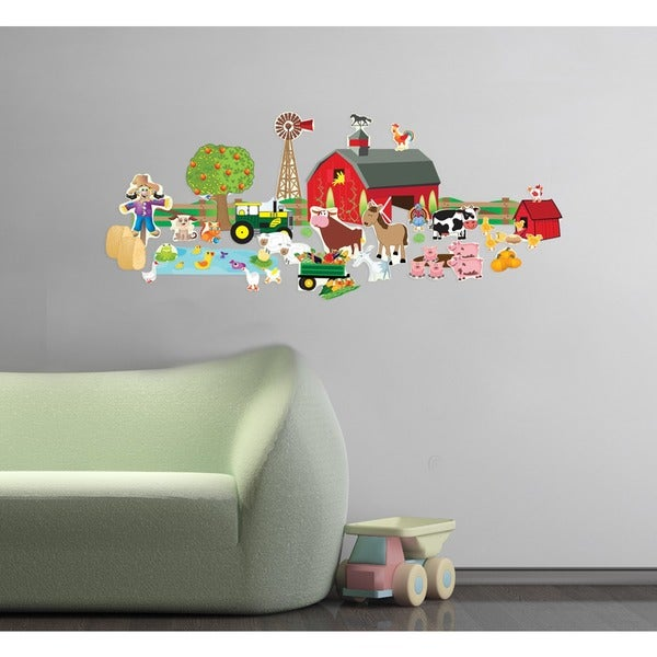 Farm Friends Wall Play Set