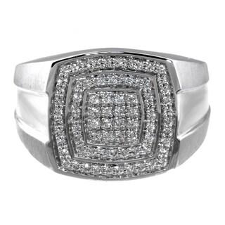 Men's Sterling Silver 1/2ct TDW Diamond Ring