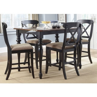Abbey Court Black and Cherry 54x54 X-Back 5pc Gathering Set