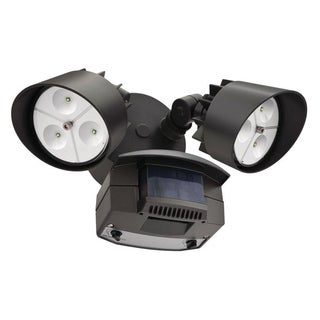Lithonia Lighting Outdoor Dual-head 5000K LED Bronze Motion Sensor Floodlight