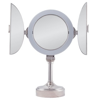 Zadro Surround Lighted Tri-fold Dual Sided Vanity Mirror